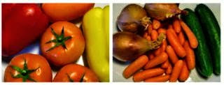Variety of different vegetables.