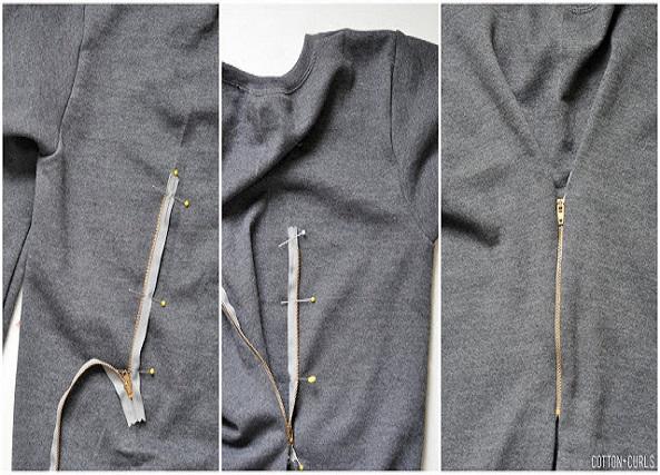 Ajustar jerseis grandes con una cremallera