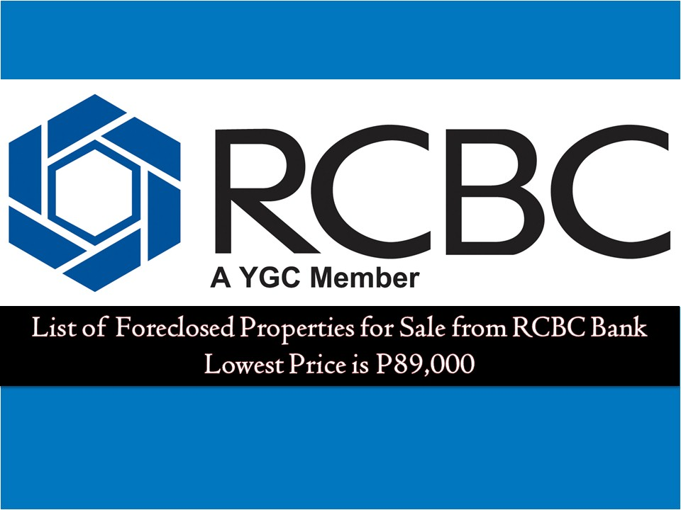 The following is foreclosure listing of RCBC Savings Bank for this month of April 2019. If you are searching for properties for investment, foreclosed properties if one of your good choices since prices is cheaper compared to other real-estate markets. You can find these foreclosed properties in financial or lending institutions, government institutions like Pag-IBIG Fund, SSS or National Housing Authority and of course from banks like RCBC Savings Bank.  Check out below the list of foreclosed properties from RCBC Bank that will help you find the best property deals. You may also work with a bank or its accredited broker/brokerage to greatly reduces the risk of ending up with the problematic property.  Note: Jbsolis.com is not affiliated with RCBC Savings Bank and this post is not a sponsored. If you are interested in any of these properties, you may contact RCBC Branches in your area.  For the full list of properties for sale from RCBC Savings Bank. You may check this link and contact the following for more information.   Who to Contact Red(02) 230-7707 / 0919-9938394 Joseph(02) 230-7707 / 0919-9938394 Alex(02) 230-7707 / 0919-9938394 Jessica(02) 230-7707 / 0919-9938394