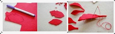 Keçe Kumaştan Çiçek Yapımı, Resimli Açıklamalı 2