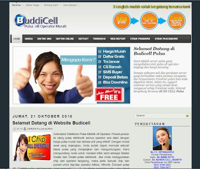 template website pulsa