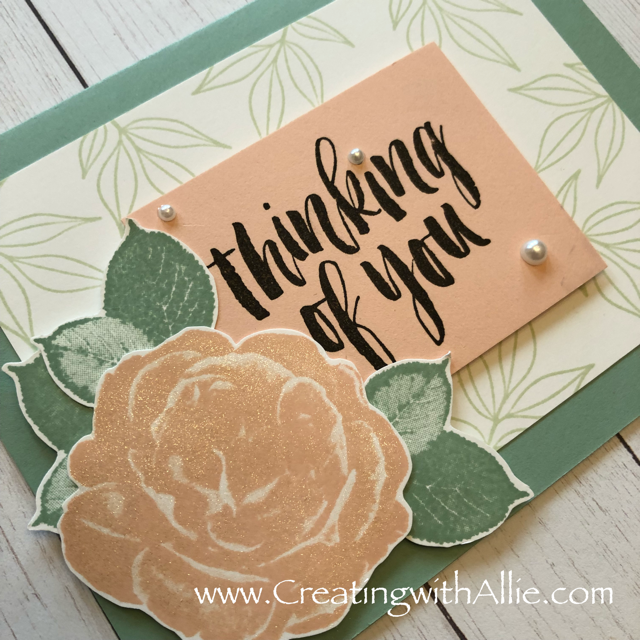 Check out the video tutorial showing you how to make a quick and easy card, where I show you tips and tricks for using Stampin Up's healing hugs!  You'll love how quick and easy this is to make!  www.creatingwithallie.com #stampinup #alejandragomez #creatingwithallie #videotutorial #cardmaking #papercrafts #handmadegreetingcards #fun #creativity #makeacard #sendacard #stampingisfun #sharewhatyoulove #handmadecards #friendshipcards