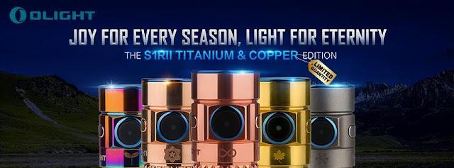 Seria latarek Olight S1R wykonanych z różnych materiałów i z różnymi diodami led