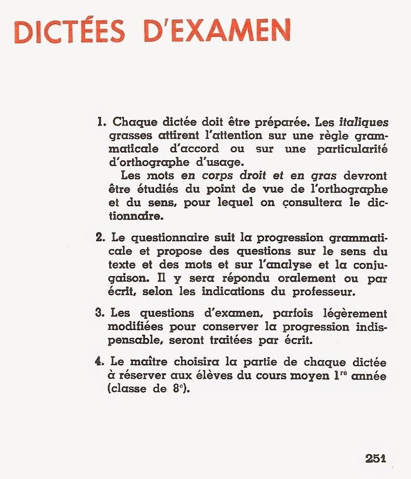 Manuels Anciens Dictees D Examen A L Entree En 6eme 1955