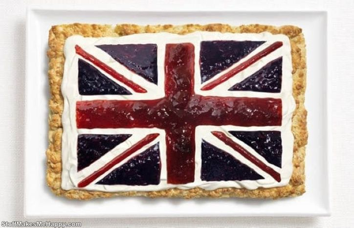 10. Great Britain - scone roll, cream, jam