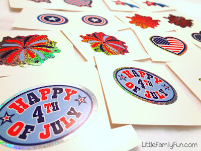 DIY 4th of July matching game