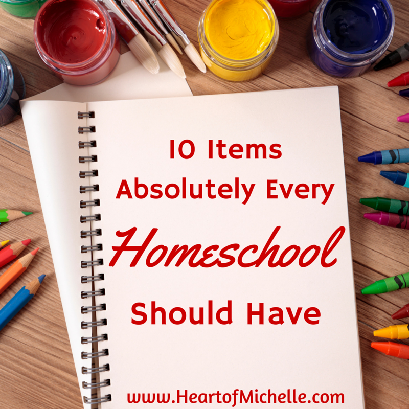 List of homeschool supplies