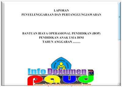 Contoh Laporan SPJ BOP PAUD Terbaru