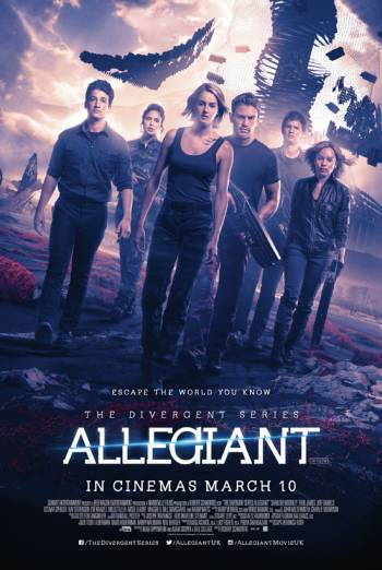 Poster of Allegiant 2016 720p English BRRip Full Movie Download