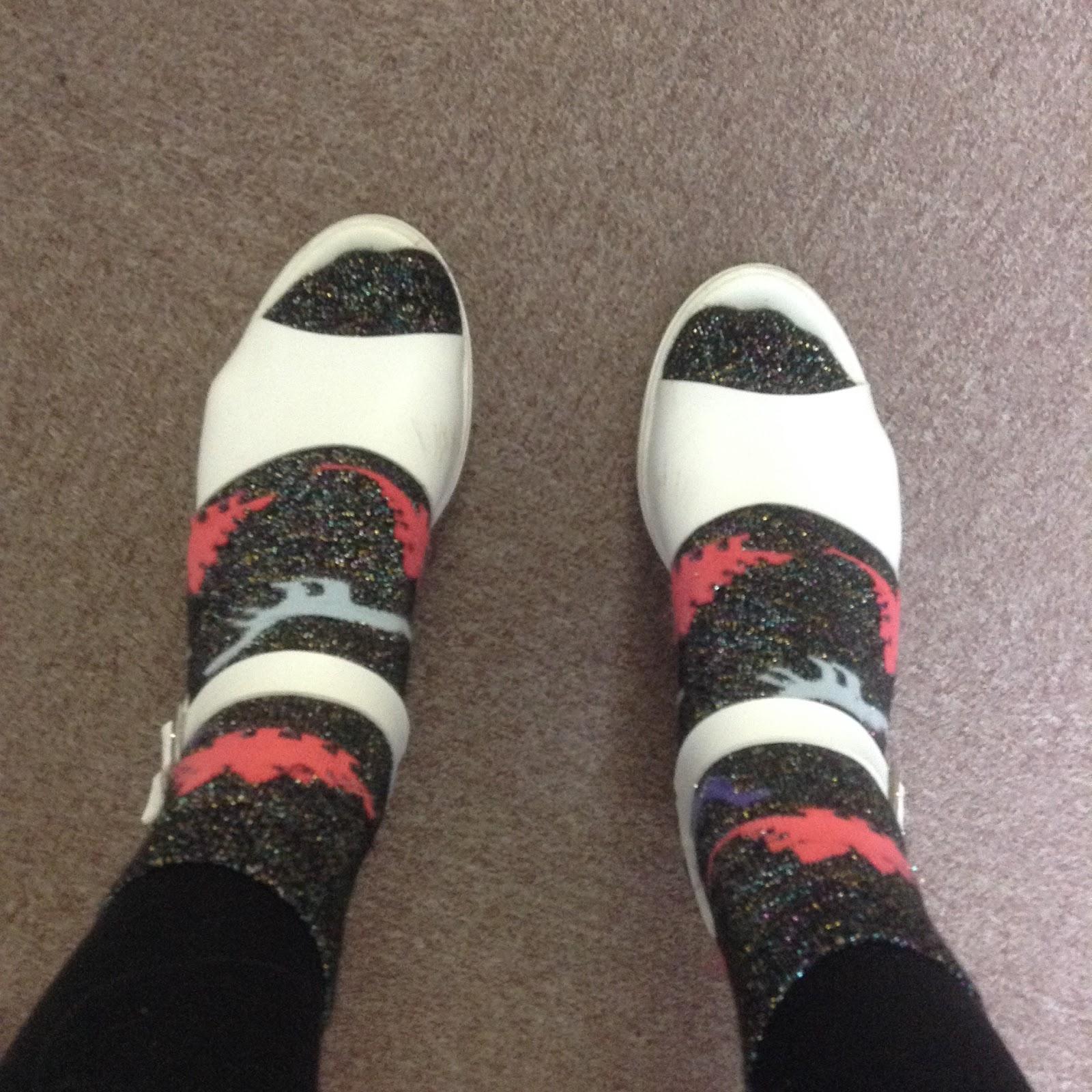 Asos sparkly dinosaur socks