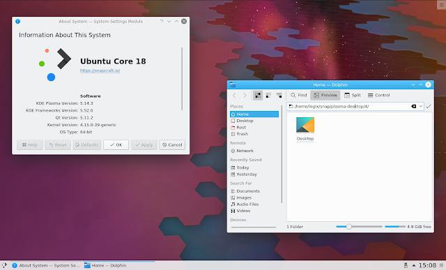 KDE Plasma Desktop snap