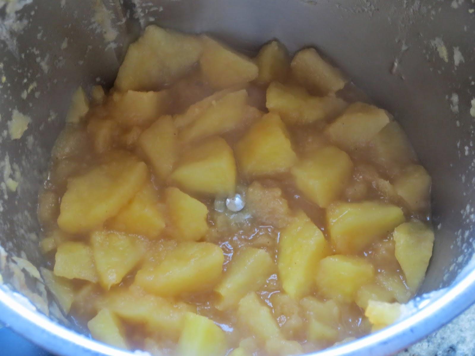 Pie de compota de manzana (Pastel) Thermomix