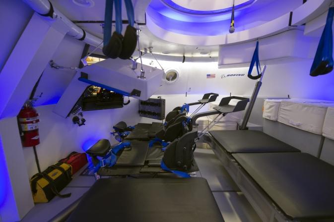 NASA astronaut Sunita Williams practices spacewalking in virtual reality. Image: NASA