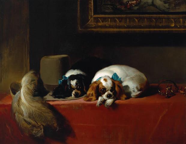 Paintings of Cavalier King Charles Spaniels