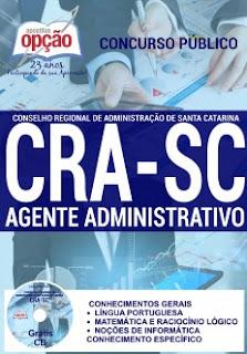 Apostila para concurso CRA Santa Catarina - Agente Administrativo