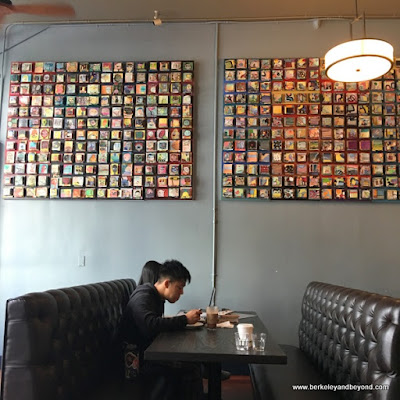 communal booth at Way Station Brew in Berkeley, California