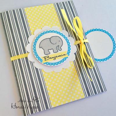 convite infantil chá de bebê fraldas aniversário elefante cinza amarelo azul delicado claro menino