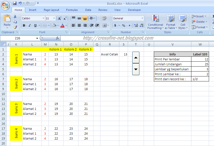 Excel Template For Labels