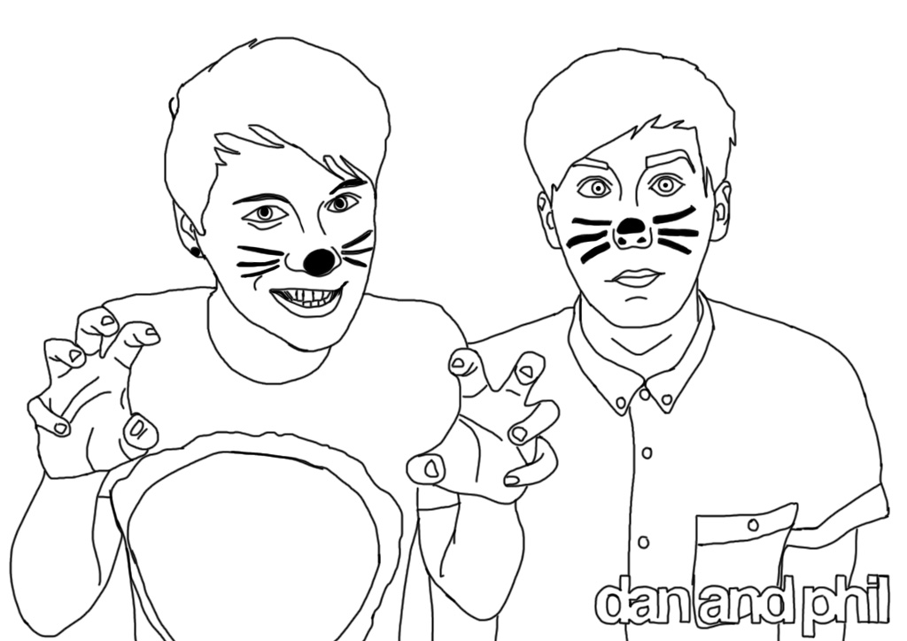 Dan And Phil Coloring Pages | Goodmorningwishes