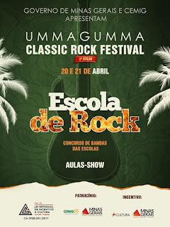 ESCOLA DE ROCK: Apresentações neste domingo, evento aberto à comunidade