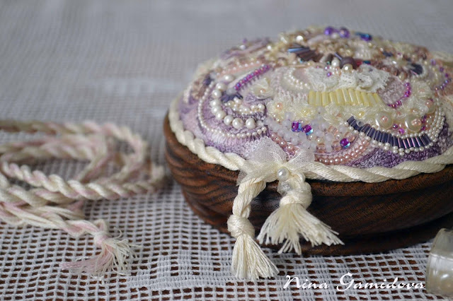 вышивка бисер ленты бусины