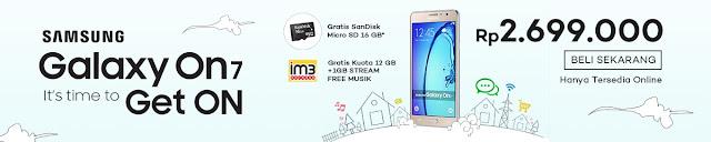Samsung Galaxy On7 mulai dijual secara resmi di Lazada