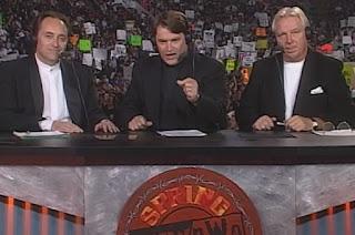 WCW Spring Stampede 1998 - Mike Tenay, Tony Schiavone, Bobby 'The Brain' Heenan