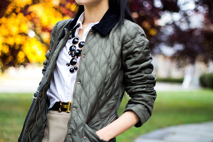 Puffer Jacket and Leather Mini (+ J. Crew Boy Shirt in Classic White Review)