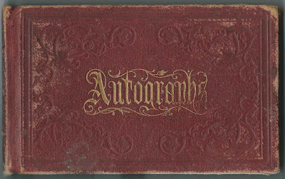 1872 Autograph Album at Eastman Business College in New York of a Student, Presumably Allen Tibbits Cook of Indiana