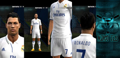 PES 2013 Real Madrid Kits 2017 Home & GK By KIMO T.L.B 19