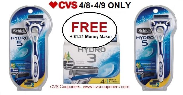 http://www.cvscouponers.com/2018/04/free-121-money-maker-for-schick-hydro-5.html