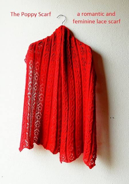 A romantic and feminine lace scarf knitting pattern