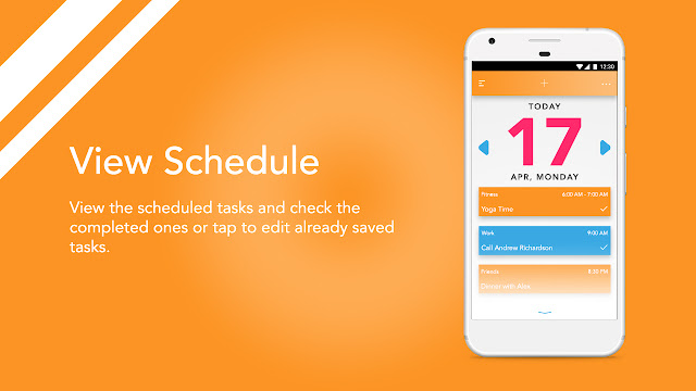 Android app UI and UX : bud View Schedule