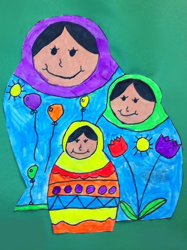 Matryoshka Doll Art Lesson - savvy teaching tips