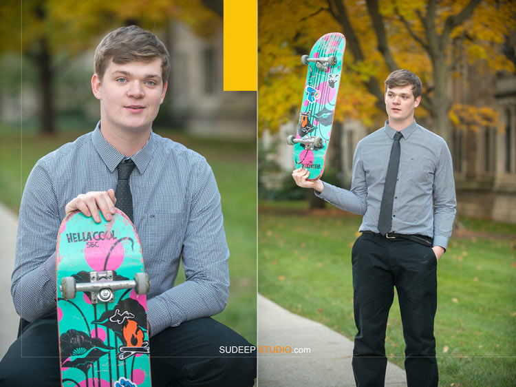 Ann Arbor Senior Portrait Photographer Pioneer High School Guys Senior Picture Ideas Skateboard SudeepStudio.com