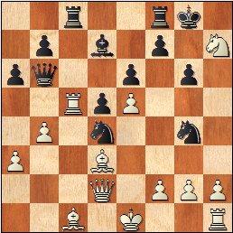 XVI Campeonato Femenino de Catalunya 1959, partida de ajedrez Maria Luïsa Puget - Pepita Ferrer, posición después de 19…Cg4