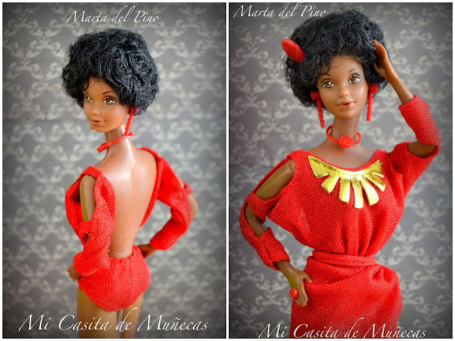 Mi Casita de Muñecas, Marta del Pino, barbie, black barbie 1979, my first black barbie 79, barbie mattel, barbie face steffie