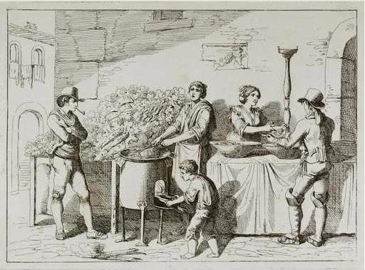 Bartolomeo Pinelli, Il Friggitore, Nuova raccolta di cinquanta costumi pittoreschi incisi all'acqua forte, Roma, 1816