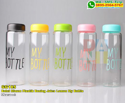 Botol Minum Plastik Bening Juice Lemon My Bottle