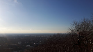 Montréal, horizon, ciel bleu