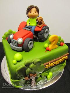 farm tractor cake