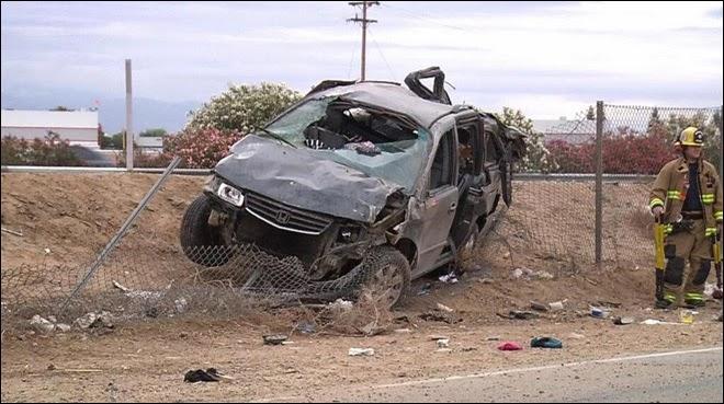 kern county accident highway 99 bakersfield honda minivan van