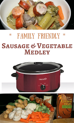 One of our all time family favorites. This is a great way to get extra veggies into your diet -- the sausage is smoked so no need to brown beforehand. Throw it all into the crockpot, push the button, and walk away!