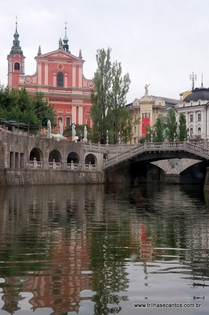 Rio Ljubljanica Ljubljana Eslovênia