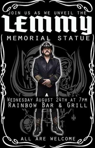 MOTÖRHEAD: Το άγαλμα του Lemmy θα κοσμεί το Rainbow στο Λος Άντζελες