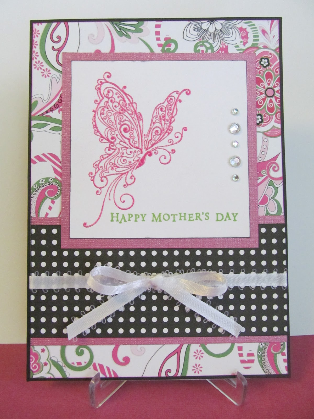 Savvy Handmade Cards: Mother's Day Butterfly Card