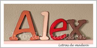 letras de madera infantiles para pared Alex babydelicatessen