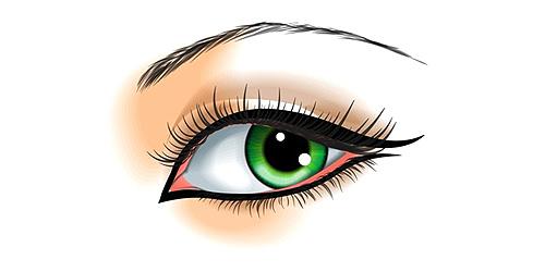 delineado para ojos grandes