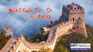 Chinese Government Scholarship: Beasiswa S2/S3 di China