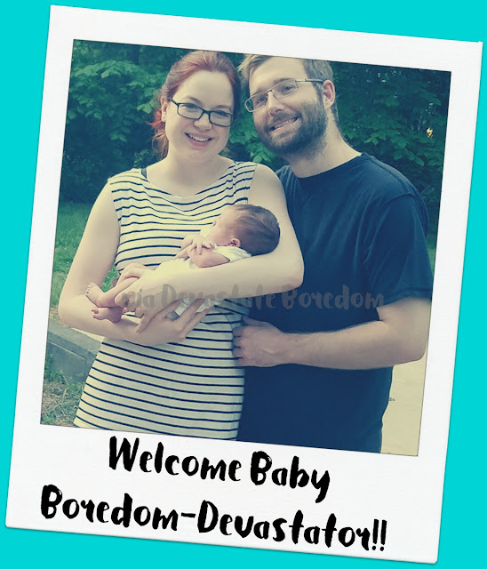 Things on my Mind Lately - Baby, Baby, BABY!  Welcoming Baby Boredom-Devastator, birth announcement mommy-zombie style!